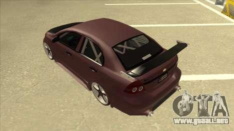 Chevrolet Aveo LT Tuning para GTA San Andreas vista hacia atrás