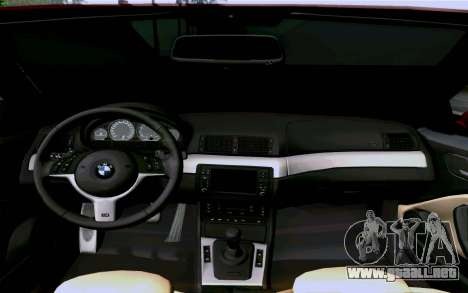 BMW M3 Cabrio para vista lateral GTA San Andreas