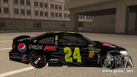 Chevrolet SS NASCAR No. 24 Pepsi Max AARP para GTA San Andreas vista posterior izquierda