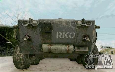 BTR-80 para vista lateral GTA San Andreas