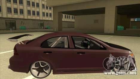 Chevrolet Aveo LT Tuning para GTA San Andreas vista posterior izquierda