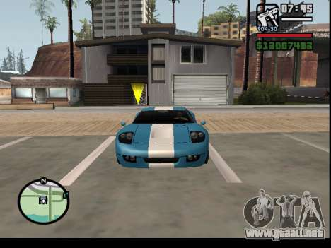 El secuestro de autos para GTA San Andreas sucesivamente de pantalla