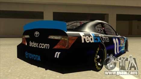 Toyota Camry NASCAR No. 11 FedEx Office para la visión correcta GTA San Andreas