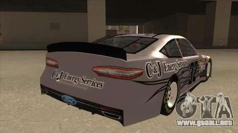 Ford Fusion NASCAR No. 32 C&J Energy services para la visión correcta GTA San Andreas
