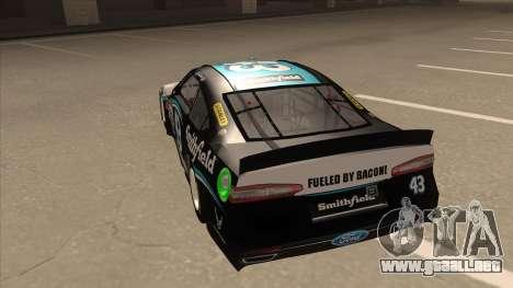 Ford Fusion NASCAR No. 43 Smithfield Foods para GTA San Andreas vista hacia atrás