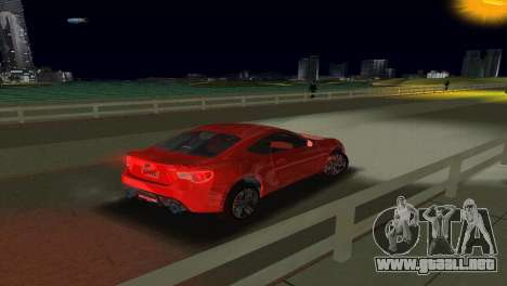 Subaru BRZ Type 1 para GTA Vice City vista interior