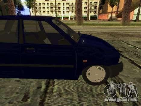 Kia Pride Hatchback para GTA San Andreas vista posterior izquierda