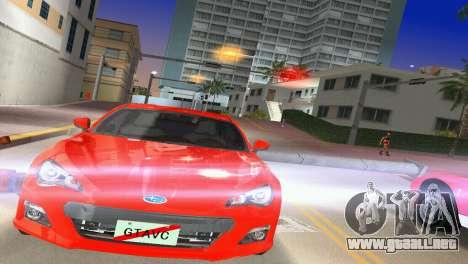 Subaru BRZ Type 1 para GTA Vice City vista lateral izquierdo
