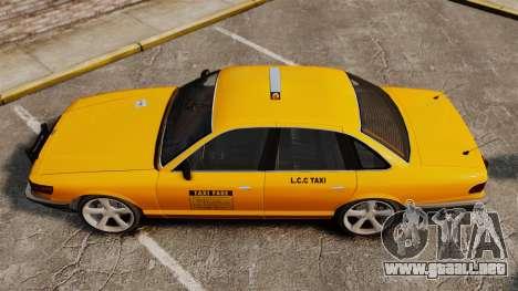 Taxi nuevo CD para GTA 4 Vista posterior izquierda