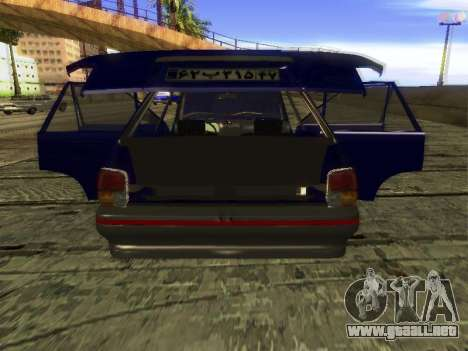 Kia Pride Hatchback para vista lateral GTA San Andreas
