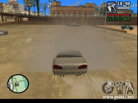 GTA V to SA: Burnout RRMS Edition para GTA San Andreas sucesivamente de pantalla