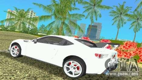 Subaru BRZ Type 4 para GTA Vice City visión correcta