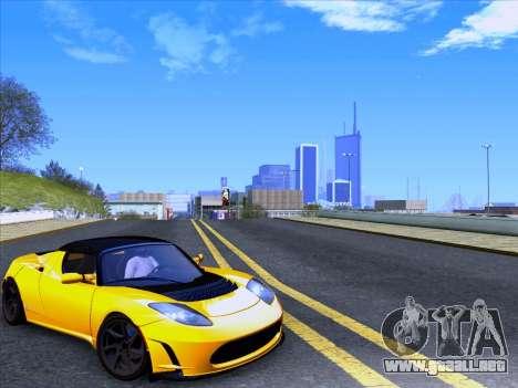 Tesla Roadster Sport 2011 para GTA San Andreas vista posterior izquierda