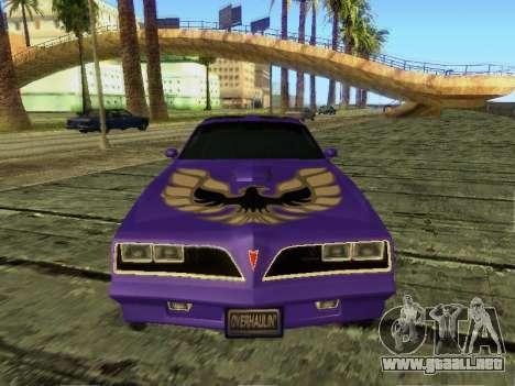 Pontiac Firebird Overhaulin para GTA San Andreas left