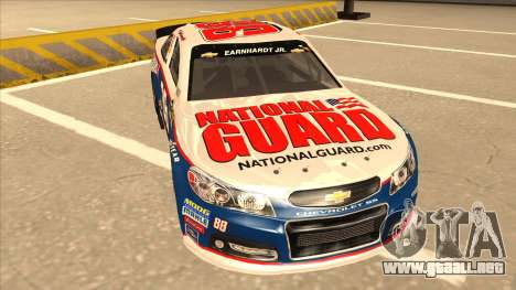 Chevrolet SS NASCAR No. 88 National Guard para GTA San Andreas left