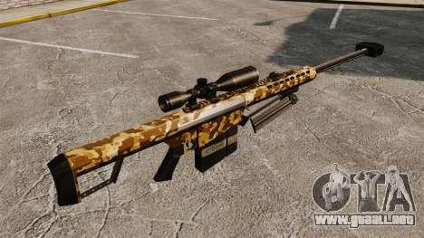 El francotirador Barrett M82 rifle v9 para GTA 4 segundos de pantalla