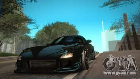 Mazda RX-7 STANCENATION para visión interna GTA San Andreas