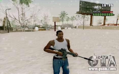 La M4a1 para GTA San Andreas sexta pantalla
