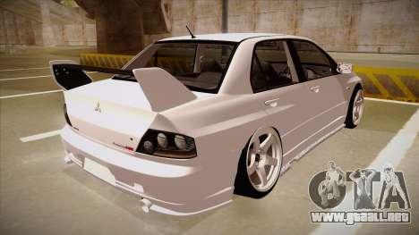Mitsubishi EVO VIII para la visión correcta GTA San Andreas