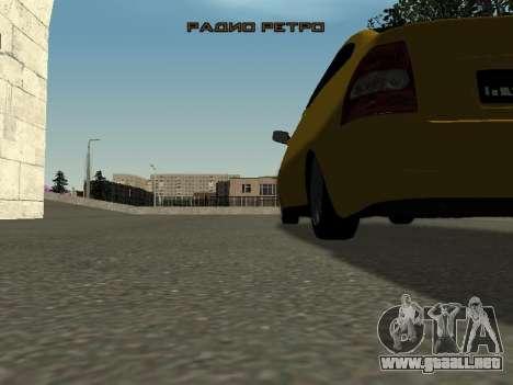 VAZ-2172 para GTA San Andreas vista hacia atrás