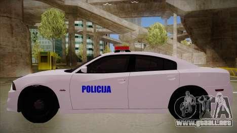 Dodge Charger SRT8 Policija para GTA San Andreas vista posterior izquierda