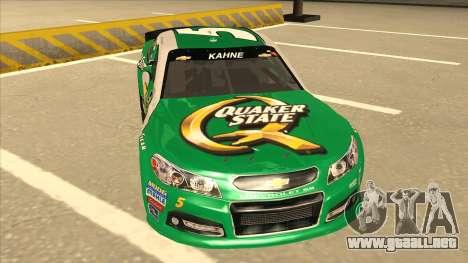 Chevrolet SS NASCAR No. 5 Quaker State para GTA San Andreas left