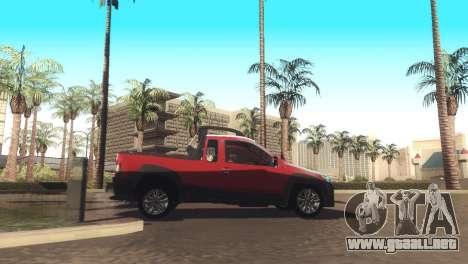 Fiat Strada Locker 2013 para GTA San Andreas vista hacia atrás