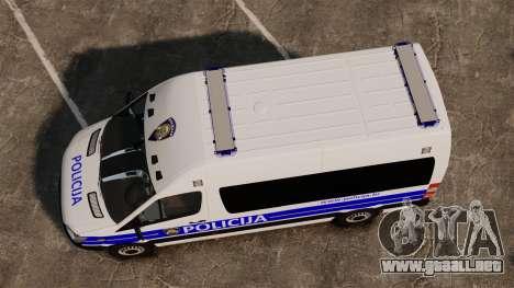Mercedes-Benz Sprinter Croatian Police [ELS] para GTA 4 visión correcta