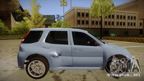 Suzuki Ignis para GTA San Andreas vista posterior izquierda