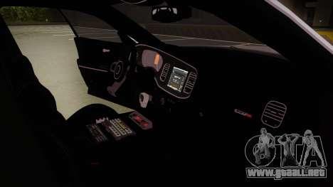 Dodge Charger SRT8 Policija para visión interna GTA San Andreas