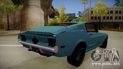 Ford Mustang para la visión correcta GTA San Andreas