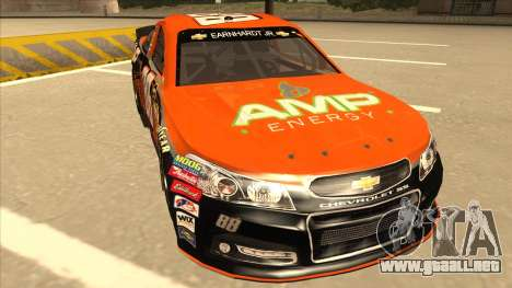 Chevrolet SS NASCAR No. 88 Amp Energy para GTA San Andreas left