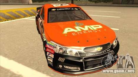 Chevrolet SS NASCAR No. 88 Amp Energy para GTA San Andreas left