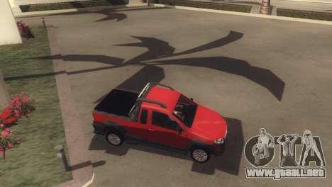 Fiat Strada Locker 2013 para vista lateral GTA San Andreas