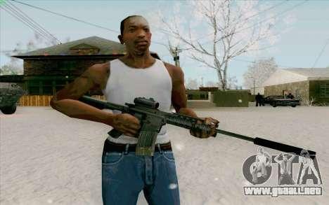 La M4a1 para GTA San Andreas segunda pantalla