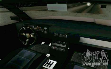 Manana Hatchback para visión interna GTA San Andreas