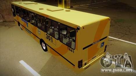 Busscar Urbanuss Ecoss MB OF 1722 M BHBUS para GTA San Andreas vista hacia atrás