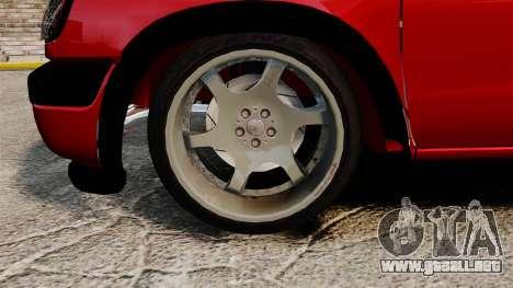 Nissan Frontier D22 para GTA 4 vista hacia atrás