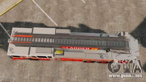Ferrara 100 Aerial Ladder FDNY 2013 [ELS] para GTA 4 visión correcta