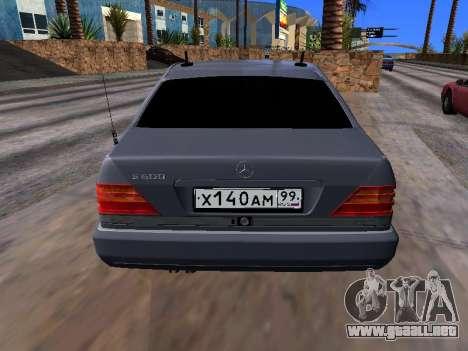 Mercedes-Benz S600 W140 para GTA San Andreas vista hacia atrás