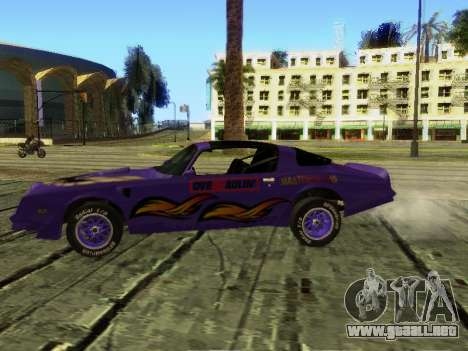 Pontiac Firebird Overhaulin para GTA San Andreas vista hacia atrás