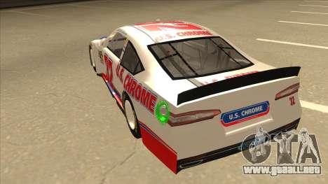 Ford Fusion NASCAR No. 32 U.S. Chrome para GTA San Andreas vista hacia atrás