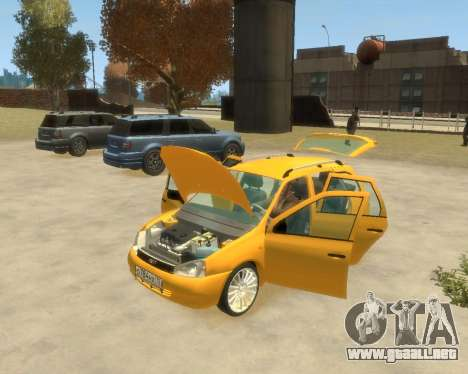 Lada Kalina Hatchback para GTA 4 Vista posterior izquierda