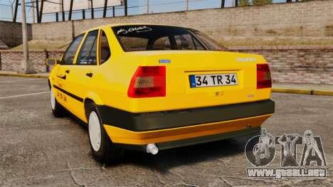 Fiat Tempra SX.A Turkish Taxi para GTA 4 Vista posterior izquierda