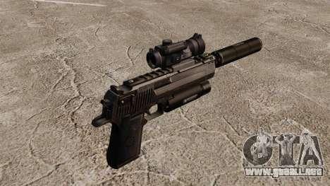 Pistola de águila del desierto (táctico) para GTA 4 segundos de pantalla