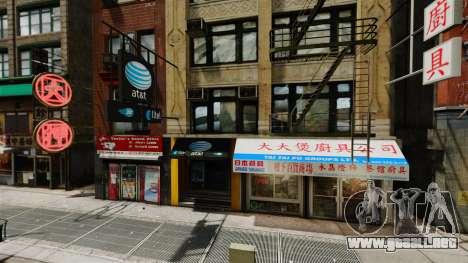 Tiendas de Chinatown para GTA 4