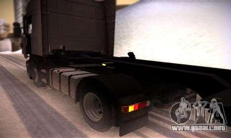 Scania R500 Topline para GTA San Andreas vista hacia atrás
