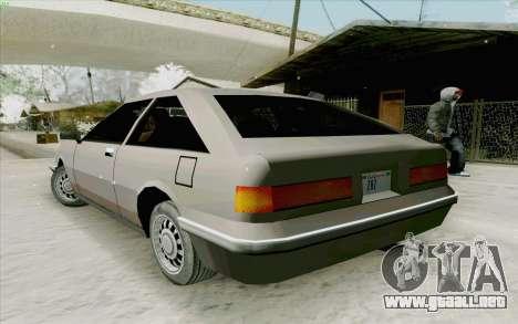Manana Hatchback para la visión correcta GTA San Andreas