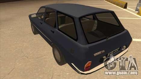 Renault 12 Break para GTA San Andreas vista hacia atrás