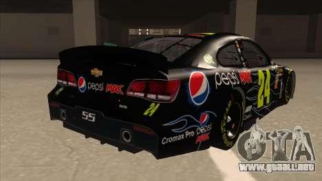 Chevrolet SS NASCAR No. 24 Pepsi Max AARP para la visión correcta GTA San Andreas